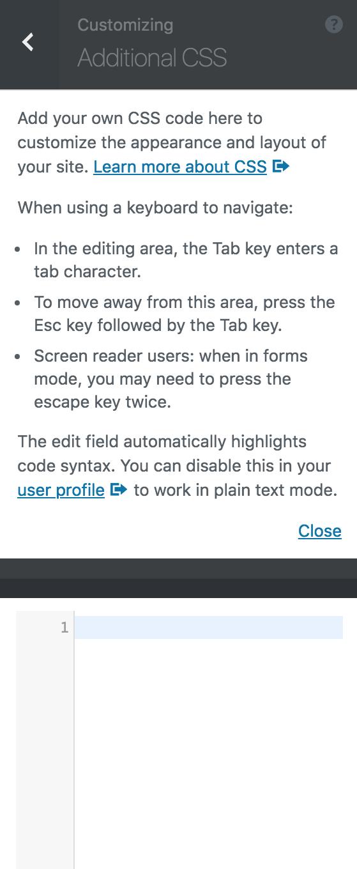8bit Theme customizer Additional CSS options