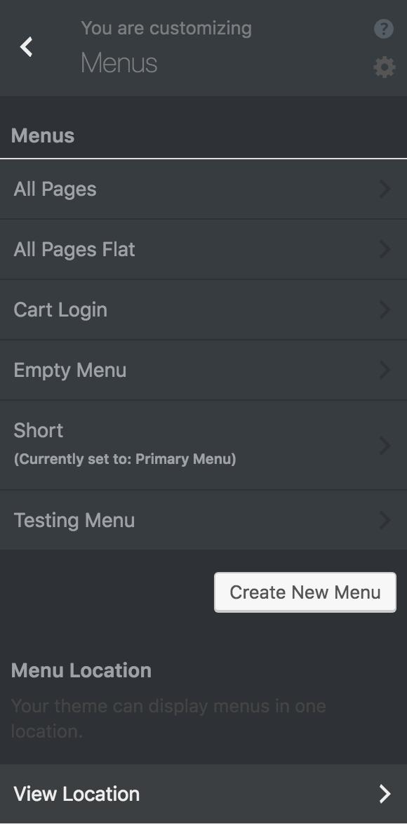 8bit Theme customizer menus options