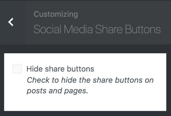 8bit Theme customizer social media share buttons options