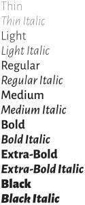 Alegreya Sans font from Google Fonts
