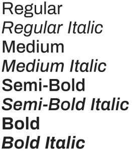 Archivo font from Google Fonts