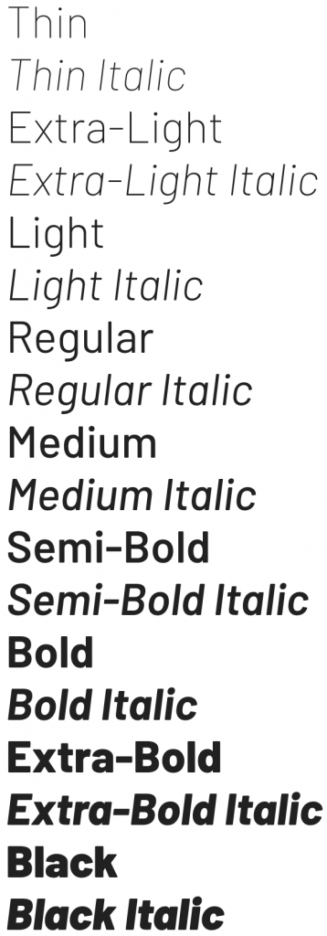 Barlow font from Google Fonts