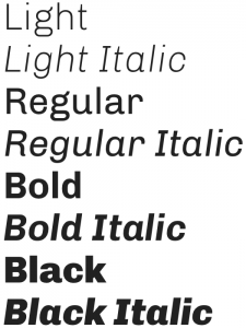 Chivo font from Google Fonts