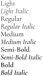 Cormorant Garamond font from Google Fonts