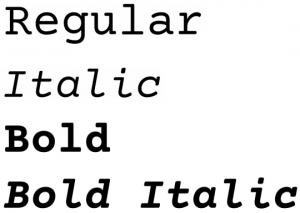 Courier Prime font from FontSquirrel