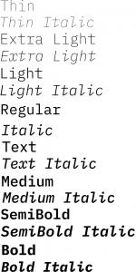IBM Plex Mono font from IBM