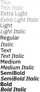 IBM Plex Sans font from IBM