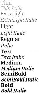 IBM Plex Serif font from IBM