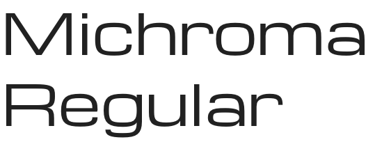 Michroma font from Google Fonts