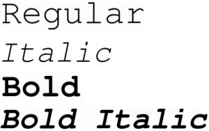Nimbus Mono font from FontSquirrel
