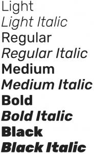 Rubik font from Google Fonts