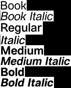 Vremena Grotesk font from FontSquirrel