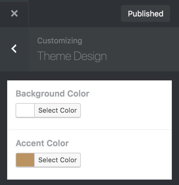 Steampunk theme customizer theme design